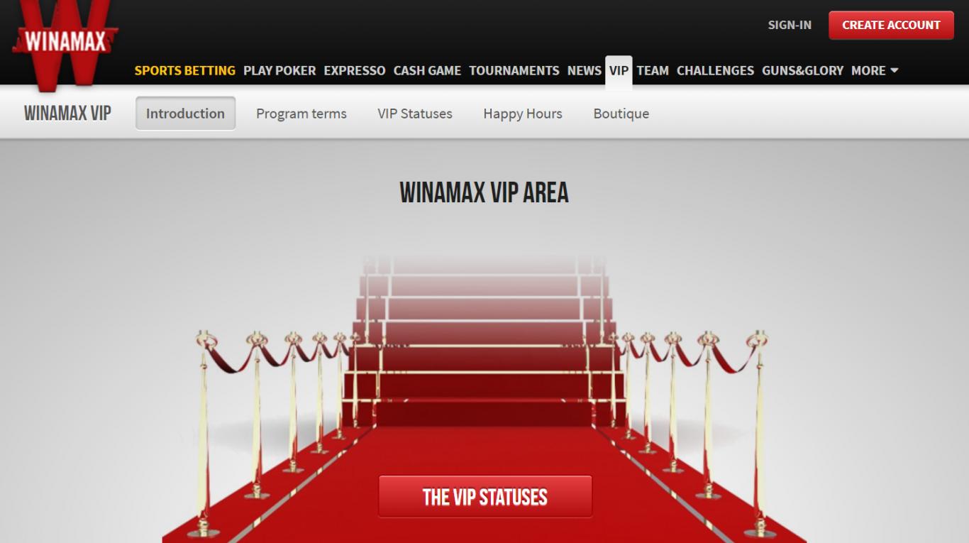 Les conditions de la réception des bonus avec code promo Winamax